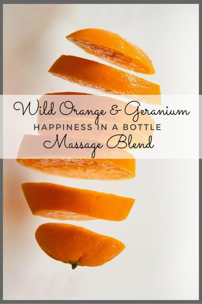 wild orange geranium massage blend