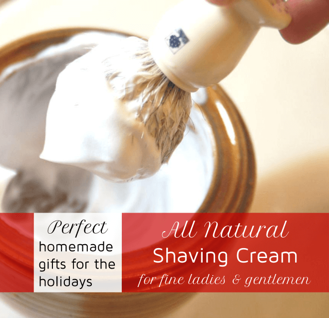 natural homemade shaving cream